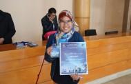 التلميذة نور السحباوي ببرلمان الطفل المغربي