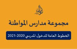 كبسولة الخطوط العامة للدخول المدرسي 2020 2021