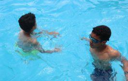 سباحة وألعاب بفضاء