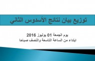 توزيع بيان نتائج الأسدوس الثاني ابتداء من يوم الجمعة 01 يوليوز 2016