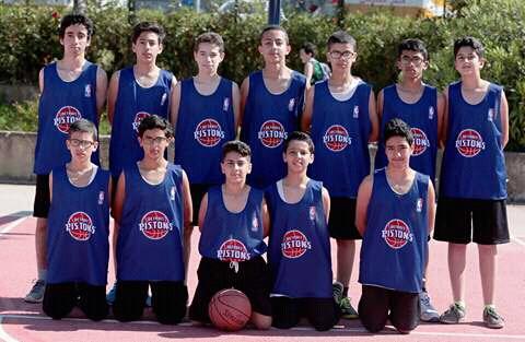 فريق كرة السلة بـ JUNIOR NBA